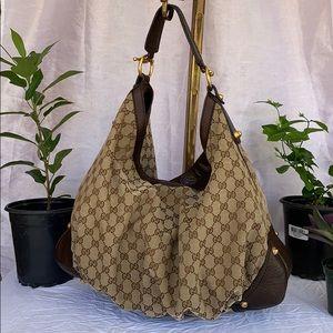 Authentic GUCCI XLarge Jockey Hobo Bag